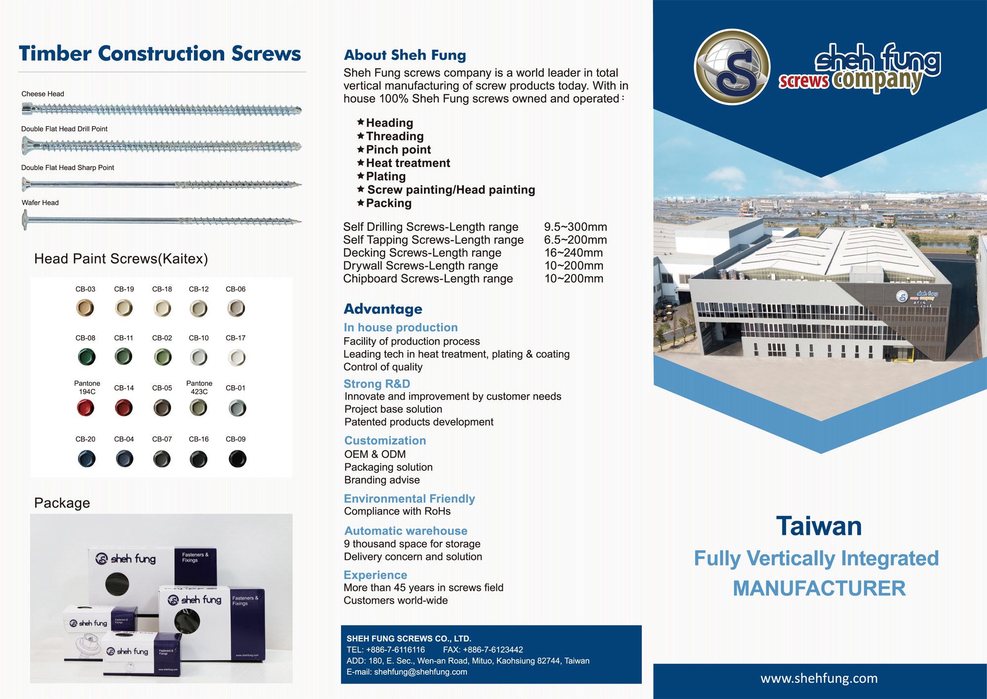 SHEH FUNG SCREWS CO., LTD.  Online Catalogues