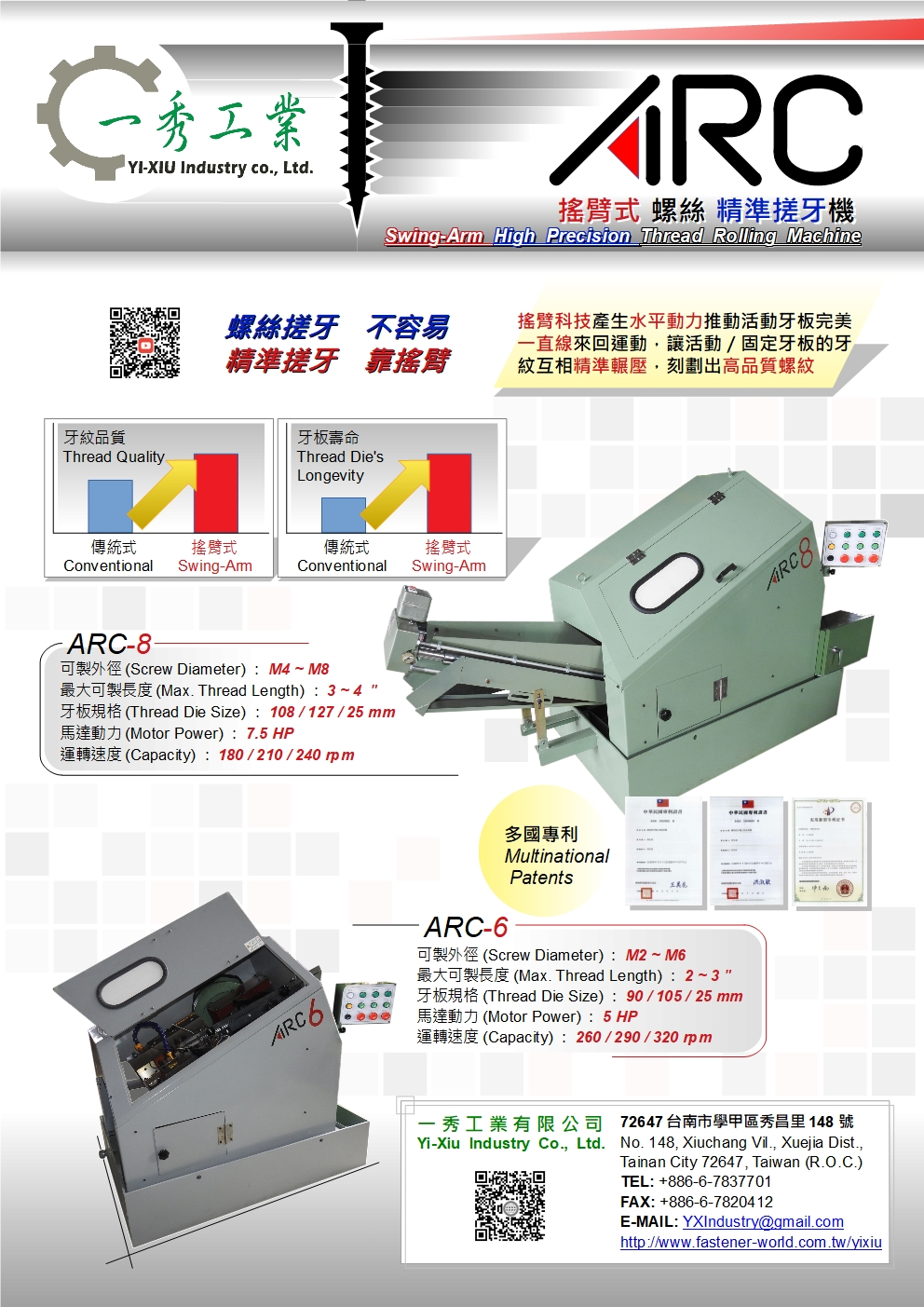 YI-XIU INDUSTRY CO., LTD. Online Catalogues