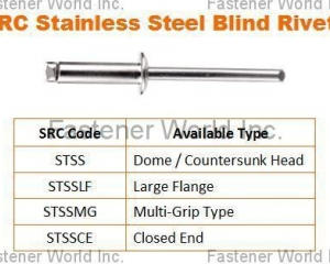 Stainless Steel Blind Rivets(SPECIAL RIVETS CORP. (SRC))