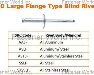 Large Flange Type Blind Rivets(SPECIAL RIVETS CORP. (SRC))
