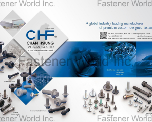 Weld Bolt, Multitooth Drive Screw, Hex Flange Bolt, 12-Point Flange Bolt, MAThread, 6 Lobe Drive Screw, External 6 Lobe Drive Screw(CHAN HSIUNG FACTORY CO., LTD. )