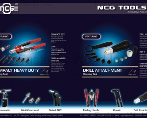 Compact Heavy Duty Riveting Tools, Drill Attachment Riveting Tools(NCG TOOLS INDUSTRY CO., LTD. )