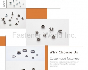 Mini Fastener, Customized Fastener