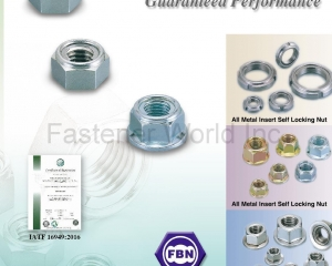 All Metal Insert Self Locking Nuts, Conical Washer Nuts